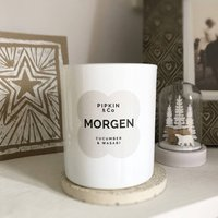 Morgen Cucumber And Wasabi Scented Soy Candle