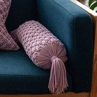Handmade Macramé Bolster Cushion