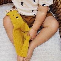 Mustard Yellow Baby Comforter And Teether Gift
