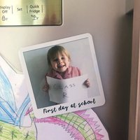 Personalised First Day Of School Photo Fridge Magnet