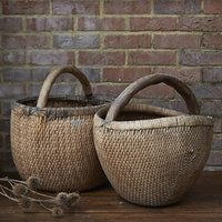 Vintage Oversized Wicker Basket