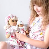 Personalised Pink Floral Rad Dolls Set Of Two