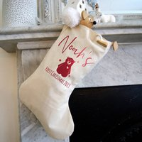 First Christmas Personalised Bear Stocking