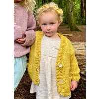 The Kids Hand Knitted Yellow Cardigan