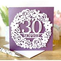 Personalised Floral Bunting Birthday Card