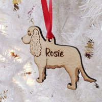 Cocker Spaniel Personalised Wooden Decoration