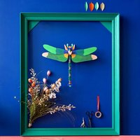 Giant Green Dragonfly Wall Decoration