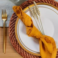 Brown Rattan Charger Plates Set Of Two