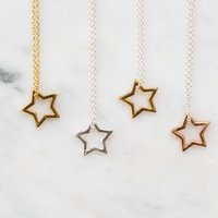 Star Necklaces, Silver/Gold/Rose Gold