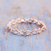 Infinity Link Bracelet, Silver/Gold/Rose Gold