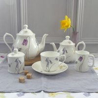 Bee And Spring Flowers Bone China Afternoon Teaset
