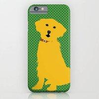 Golden Retriever Dog On Green Pattern Phone Case