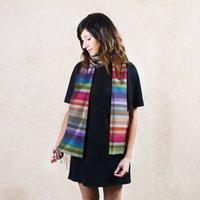 Rainbow Scarf, Handwoven In Fine Silk