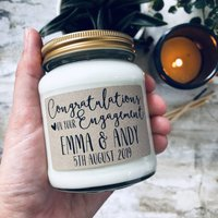 Personalised Engagement Scented Soy Candle