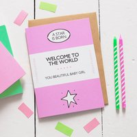 New Born Baby Girl Book Cover Card