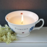 Bloom Candle In Personalised Hand Decorated Cup