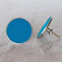 Blue Colourful Cupboard Door Knobs, Bluebonnet/Sapphire/Blue