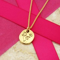 Love Pendant In 9ct Gold, Gold