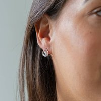 Ethical Silver Wave Studs Thailand, Silver