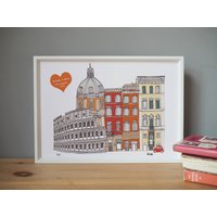 Rome Skyline Personalised Art Print