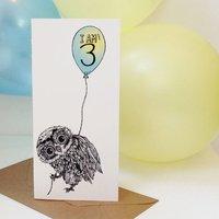Oobli Owl Personalised Age Card