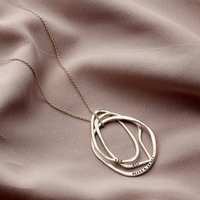 Personalised Fine Organic Russian Ring Necklace
