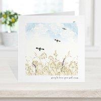 Sympathy Card, Loss Memorial Card Wild Bird