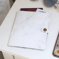 Marble Effect Paper Travel Wallet