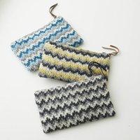 Fair Trade Zigzag Handknit Clutch Bag Purse