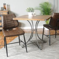Industrial Vintage Square Cafe Table