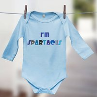 'I'm Spartacus' Film Quote Babygrow Gift For Babies, White