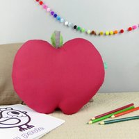 Personalised Apple Shaped Cushion, Green/Red/Pink