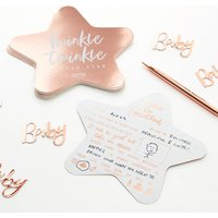 Rose Gold Foiled Baby Shower Advice For Parents Cards
