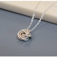 Sterling Silver Classic Knot Necklace, Silver