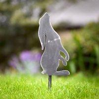 Decorative Metal Star Gazing Hare Garden Stake