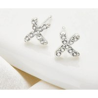 Girls Loves First Kiss White Topaz Earrings