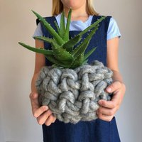 Giant Felted Merino Wool Baskets