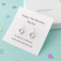 Personalised 30th Birthday Earrings
