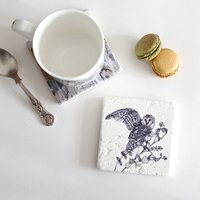 Barn Owl Natural Stone Coaster