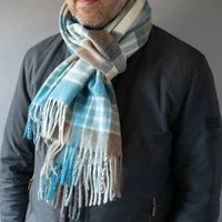 Merino Lambswool 50cm Wide Tartan And Check Scarves