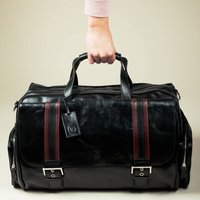 Italian Leather Travel Holdall Dino Medium