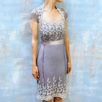 1940s Style Lace Summer Occasion Dress