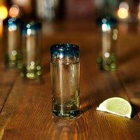 Turquoise Rim Glassware