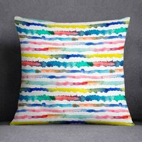 Abstract Watercolour Cushion Gradient Lines Laura Munoz
