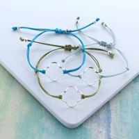 Silver Clover Friendship Bracelets, Silver