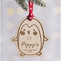 Penguin Baby's First Christmas Decoration