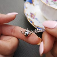 Personalised Silver Or Gold Teapot Necklace, Silver