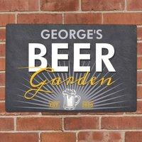 Personalised Beer Garden Metal Wall Sign