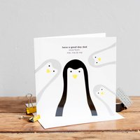 Build Your Own Dad Penguin Card