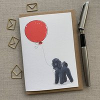 Personalised Poodle Birthday Card